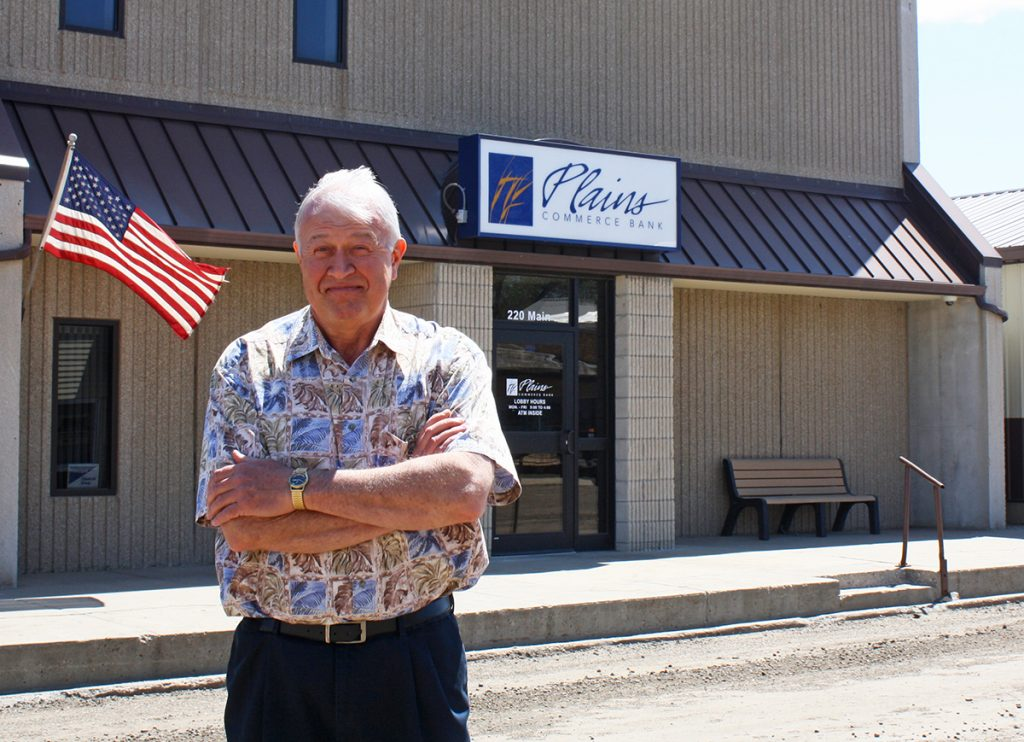 "Plains Commerce Bank, which began as Bank of Hoven, S.D., more than 80 years ago, continues to house its main office in Hoven, because ""we grew up from our roots here,"" according to Executive Vice President and Branch Manager Chuck Simon. By Wendy Royston/Dakotafire Media"