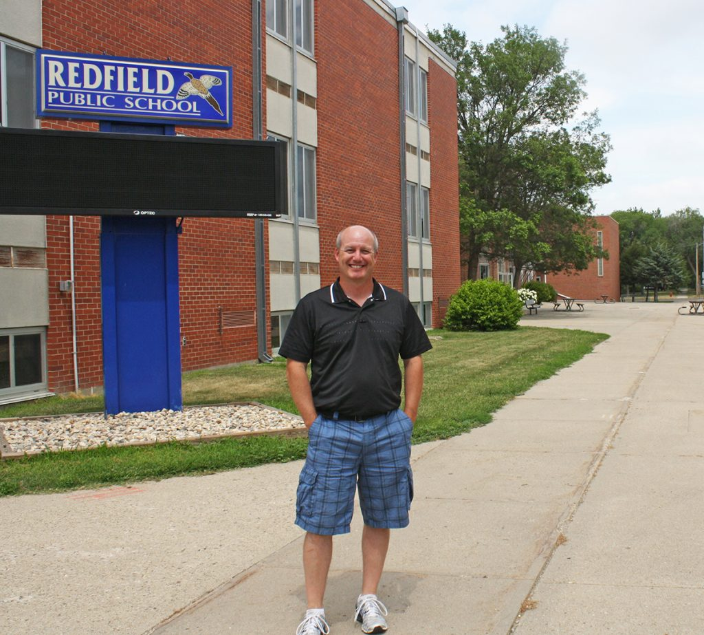 Redfield Public School Superintendent Shad Storley has been hard at work on new school plans since he arrived in Redfield two years ago. Construction is scheduled to begin this fall on a $23 million K-12 school rebuild. Photo by Wendy Royston/Dakotafire Media