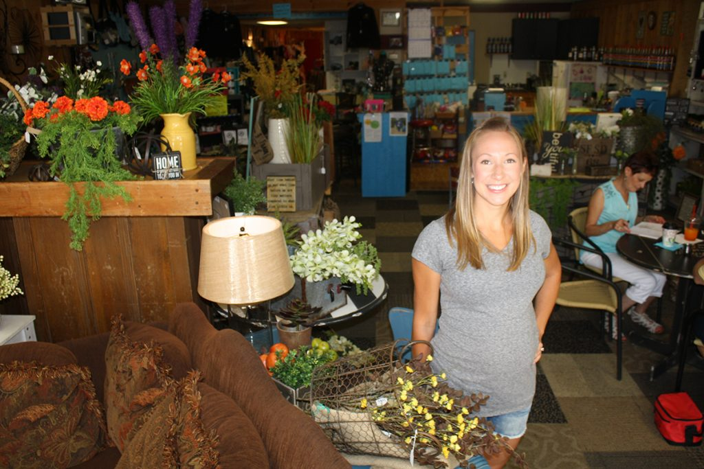 Redfield native Keri Schade purchased Simply Charming, a coffee and gift shop on Main Street, three years ago, finding a way to keep open a place she had loved since her youth. Photo by Wendy Royston/Dakotafire Media