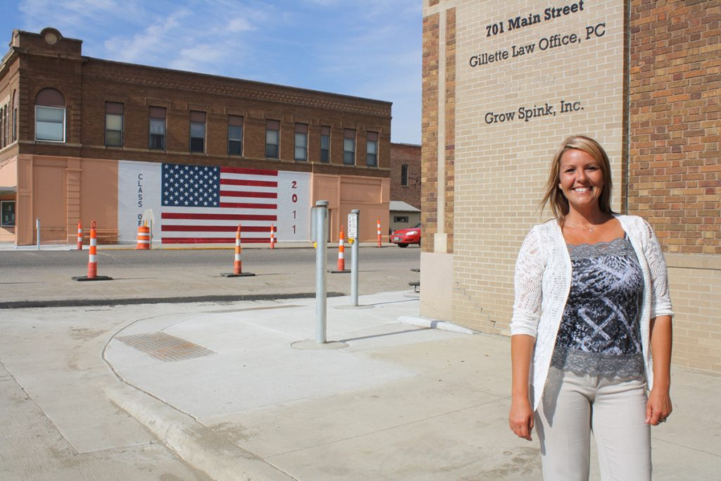 Lisa Zens, executive director of Grow Spink, Inc., says Redfield's distance from larger cities has helped it become the trade center for the rural region between Huron and Aberdeen. Photo by Wendy Royston/Dakotafire Media
