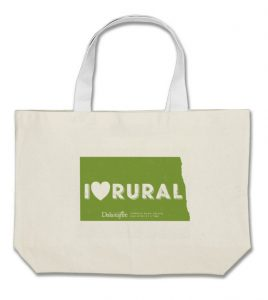 """I (heart) rural"" ND tote bag"