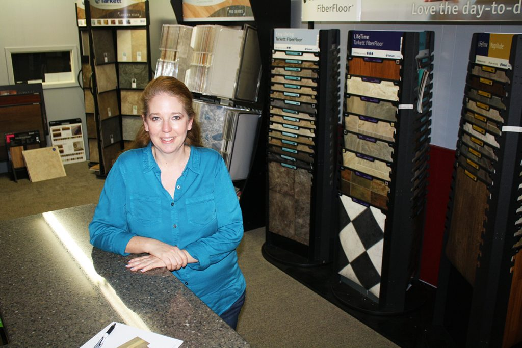 Barb Pearson-Cramer purchased TLC Interiors last year, in an effort to save a business from leaving town when the former owner decided to close up shop. She also operates a North Dakota adoption agency out of Faulkton, S.D. Photo by Wendy Royston