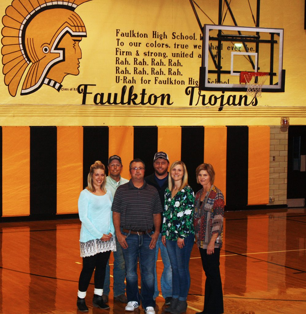 Kayla Hanson (Class of 2007), Troy Hadrick (1994), Slade Roseland (1995), Casey Hlavacek (2004), Megan Hlavacek (2005) and Nikki Schilder-Melius each moved back to Faulkton, S.D., within a decade of graduating from the local school, and advocate for other alumni to follow their lead. Photo by Wendy Royston