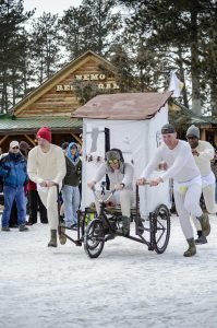 Participants go all out in building outhouses for the big race at the Nemo 500 in Nemo, S.D. Contributed photo