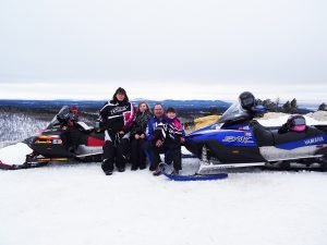 Snowmobiling and other winter activities have become a family tradition for the Juhnke family of Parkston, S.D.—parents Nicole and Jason, and children Cadence, 12, and Rory, 9. Courtesy photo