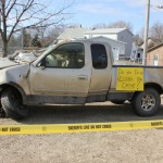 Totaled truck from Faulkton