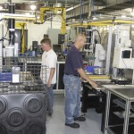 The engine cooling components made at Horton, Inc. are shipped all over the world. Photo courtesy Britton Journal / Horton