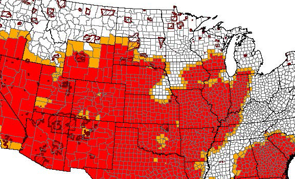 SD counties designated as drought disaster areas