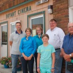 Bryon Noem, Kennedy Noem, Jen Carstensen, Chloe Grantham, Jeff Davis and Dean Steever are some of the volunteers keeping the Bryant Cinema running. Clark County Courier photo