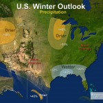 Part of the eastern Dakotas can expect drier conditions this winter, according to the NOAA's annual Winter Outlook. Image from http://www.noaanews.noaa.gov/stories2012/20121018_winteroutlook.html
