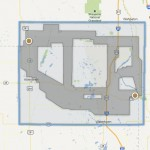 Areas that are being studied for a potential transmission line are indicated in gray. The map is searchable, so addresses can be looked up, at this link: http://www.bssetransmissionline.com/maps/