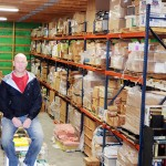 Kurt Gravley just finished a 6,700-square-foot warehouse for his merchandise. Photo by Troy McQuillen
