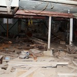 View into crumbling Waldorf Hotel in Andover, S.D. Photo by Troy McQuillen