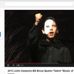 A still from a YouTube video of John Cassens' performance at the South Dakota Snow Queen Festival, Jan. 5, 2013.