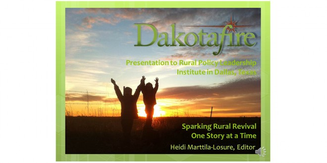 Video of Dakotafire presentation at Rural Policy Leadership Institute