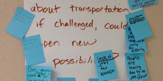 Responses to second question at Dakotafire Cafe event in Britton, S.D., March 28. Photo by Joe Bartmann