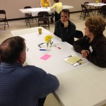 Discussion at the Dakotafire Cafe event in Britton, S.D., March 28. Photo by Joe Bartmann