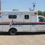 The Douglas County Ambulance. Photo by The Corsica Globe