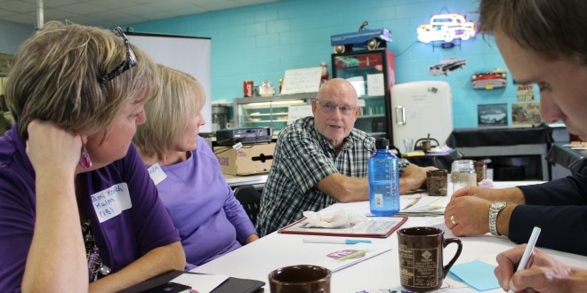 Attendees discuss education and community in Kulm