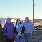 "The dust of empty lots is proving to be a challenge for the community of Delmont. Pictured are, from left, City Council Member Earla Strid, long-time resident Barbara Hoffman, Mayor Mae Gunnare and Delmont Non-Profit Development Corporation President Darren Fechner. Photo by Elizabeth ""Sam"" Grosz"