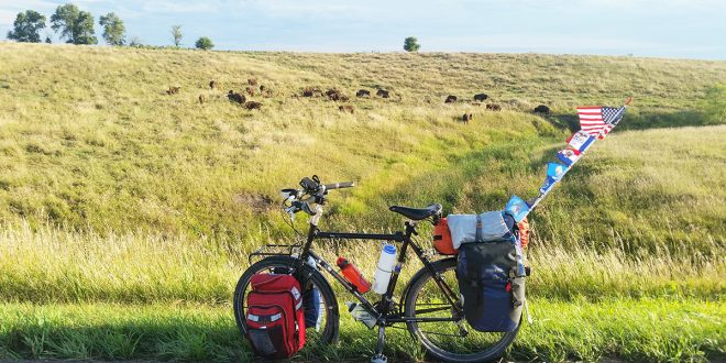 POSTCARD: The view of the Dakotas from a bicycle