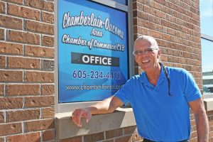 Mike Normile, director of the Chamberlain-Oacoma Chamber of Commerce, said there's no shortage of jobs in the area he serves. Photo by Wendy Royston/Dakotafire Media