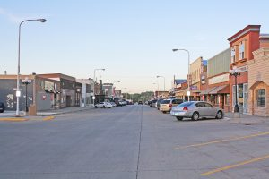 Main Street in Chamberlain is one of a handful of business districts within the Chamberlain-Oacoma community. Photo by Wendy Royston/Dakotafire Media