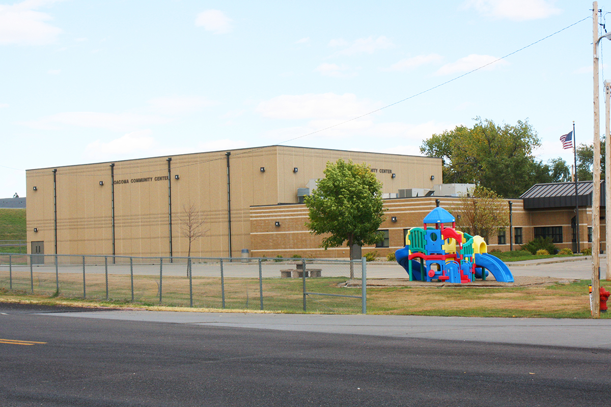 The Oacoma Community Center was built with support from the town of Chamberlain. Photo by Wendy Royston/Dakotafire Media